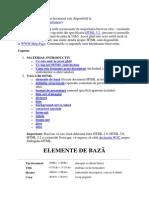 HTML Lectii