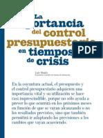 Dossier Importancia Del Control Presupuestario en Tiempo de Crisis y Ejemplo Practico