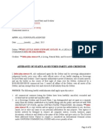 Affidavit of Truth and Notice of Status as Secured Party and Creditor Made Simple Template