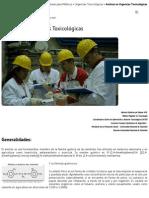 Urgencias Toxicológicas, Amitraz, Plaguicidas, Guías Para Médicos