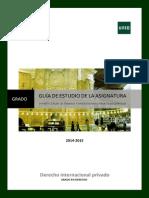 Guía de Estudio Derecho Internacional Privado