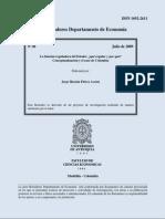 Florez Jorge H (2009) Regulacion y Estado