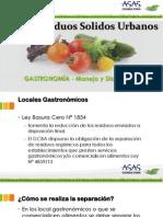 RSU - Residuos Solidos Urbanos Gastronomia
