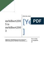Mrhilbert2005 is Mrhilbert2003