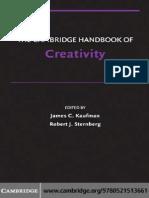 KaufmanSternbergThe Cambridge Handbook of Creativity