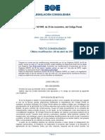 Codigo Penal 10-1995 Cambios Lo 1-2015 Julio 2015