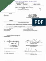 Dennis Fraser Criminal Complaint