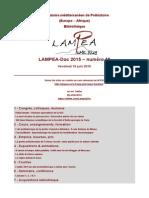 LAMPEA-Doc 2015 – numéro 19 / Vendredi 19 juin 2015