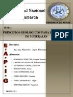 Principios Geologicos Para Busqueda de Minerales