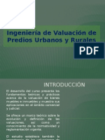 Valuación de Predios Urbanos y Rurales