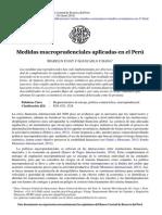 Medidas Macroprudenciales Aplicadas en El Perú