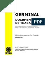 ABSTENCIONISMO ELECTORAL EN PARAGUAY... - MARCELO LACHI - N 3 DICIEMBRE 2009 - PORTALGUARANI