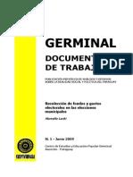 RECOLECCION DE FONDOS Y GASTOS ELECTORALES... - MARCELO LACHI - N 1 JUNIO 2009 - PORTALGUARANI