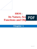 CH 1 HRM - Its Nature Scope Functions Objecties