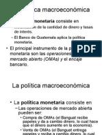 La Politica Monetaria Int