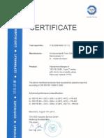 ISO FE OSY Type 3 Zertifikat En