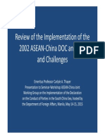 Thayer Review of Progress on Implementing the ASEAN-China Guidelines on the Declaration on Conduct of Parties in the South China Sea