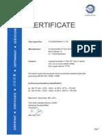 ISO FE Type C Zertifikat En