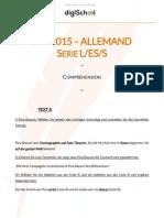 Bac S/ES/L 2015 - allemand