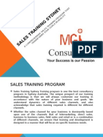 Sales Training Sydney
