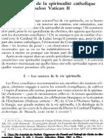 Les sources de la spiritualité catholique selon Vatican II
