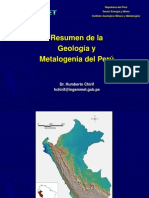 Resumen de La Geología y Metalogenia Del Perú