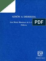 Ana Martinez-Adios a Derrida