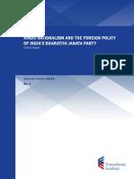 Hindu Nationalism and the Foreign Policy of India's Bharatiya Janata Party