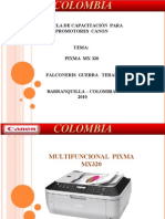CAPACITACION PIXMA MX320