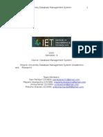 University Database Management System