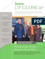Seton Hays Foundation - Up Close - Spring 2015