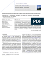 Integrating Information About the Cost of Carbon Through Activity Based Costing 2012 Journal of Cleaner Production