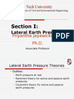 Sections 1.1-1.3 Lateral Earth Pressure