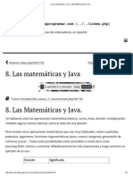 8. Las Matemáticas y Java - AprendeAProgramar