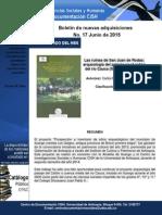 Boletín nuevas adquisiciones junio
