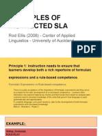 Principles of Instructed SLA - Ellis