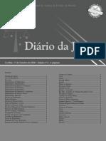 Diário Da Justiça Eletrônico - Data Da Veiculação - 17-10-2008