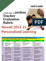 newell pl teacher evaluation rubric 2015-16