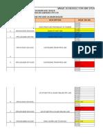 Valve Schedule