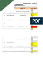 IBR Valve Schedule