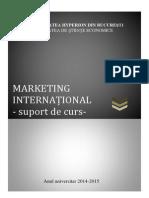 Suport Curs Marketing International