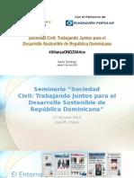 Presentación José Checo, Seminario 20 años Alianza ONG
