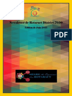 District Newsletter June 2015 (French)