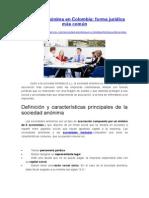 Sociedad Anónima en Colombia - Forma Jurídica Más Común