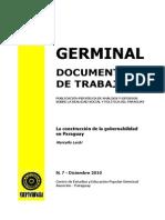 LA CONSTRUCCION DE LA GOBERNABILIDAD EN PARAGUAY - MARCELO LACHI - N 7 DICIEMBRE 2010 - PORTALGUARANI