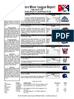 Minor League Report 15.06.19