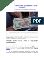 Corrupción Transnacional - Pocos Países Luchan Contra Ella