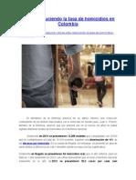 Se Está Reduciendo La Tasa de Homicidios en Colombia