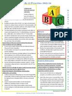Pre K-12 Board's District Priorities 2015-16 FINAL