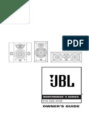 JBL Northridge E10 E20 EC25 OM English | Loudspeaker | Screw